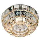 Встраиваемый светильник Feron JD87 прозрачный золото с LED подсветкой