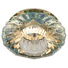 Встраиваемый светильник Feron JD88 прозрачный золото с LED подсветкой