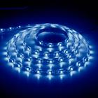 Лента LED LS604/LED-RL 60SMD(3528)/m 4.8W/m 12V 5m*8*0.22mm синий на беломIP65