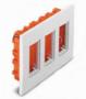 Коробки для врезного монтажа 3ряд. вертикальный 12мод. алюминий U22.734.30