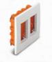 Коробки для врезного монтажа 2ряд. вертикальный 8мод. алюминий U22.724.30
