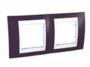 Рамка 2 поста гранат / белый горизонтальная MGU6.004.872