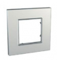 Рамка 1 пост серебряный универсальная MGU6.702.55