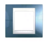 Рамка 1 пост голубой лед / белый MGU6.002.854