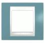 Рамка 1 пост синий / белый MGU6.002.873