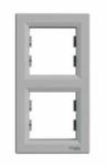 Рамка 2 поста алюминий вертикальный EPH5810261