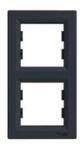 Рамка 2 поста антрацит вертикальный EPH5810271
