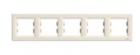 Рамка 5 постов слоновая кость горизонтальная EPH5800523