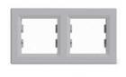 Рамка 2 поста алюминий горизонтальный EPH5800261