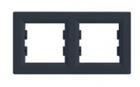 Рамка 2 поста антрацит горизонтальный EPH5800271