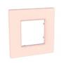 Рамка 1 пост розово-жемчужный универсальная MGU4.702.37