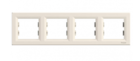 Рамка 4 поста слоновая кость горизонтальная EPH5800423