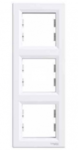 Рамка 3 поста белая вертикальная EPH5810321