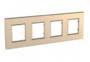 Рамка 4 поста медный универсальная MGU6.708.56