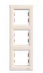 Рамка 3 поста слоновая кость вертикальная EPH5810323