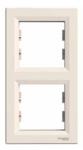 Рамка 2 поста слоновая кость вертикальная EPH5810223