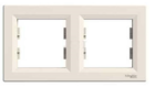 Рамка 2 поста слоновая кость горизонтальная EPH5800223