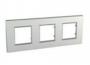 Рамка 3 поста серебряный универсальная MGU6.706.55