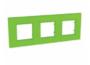Рамка 3 поста зеленый универсальная MGU4.706.28
