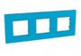 Рамка 4 поста синий универсальная MGU4.706.26