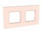 Рамка 2 поста розово-жемчужный универсальная MGU4.704.37