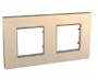 Рамка 2 поста медный универсальная MGU6.704.56