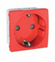 Механизм розетки 2К+З со шторками 16А 2-мод. красный MGU3.037.03