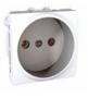 Механизм розетки 2К со шторками 16А 2-мод. белый MGU3.033.18