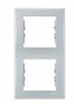 Рамка 2 поста серая вертикальная SDN5801133