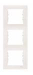 Рамка 3 поста слоновая кость вертикальная SDN5801323