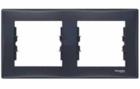 Рамка 2 поста графит горизонтальная SDN5800370
