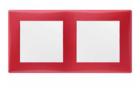 Рамка 2 поста красная горизонтальная SDN5800341