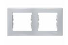 Рамка 2 поста серая горизонтальная SDN5800333