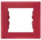 Рамка 1 пост красная SDN5800141