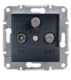 Механизм розетки TV/SAT/SAT конечной антрацит EPH3600171
