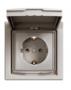 Розетка (2К+З) 16A с крышкой и шторками бронза  EPH3100369