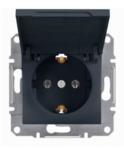Механизм розетки (2К+З) 16A с крышкой антрацит EPH3100171