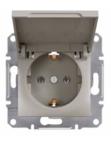 Механизм розетки (2К+З) 16A с крышкой бронза EPH3100169