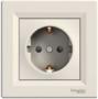 Розетка (2К+З) 16A со шторками слоновая кость EPH2900223