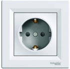 Розетка (2К+З) 16A со шторками белая EPH2900221