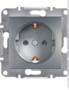 Механизм розетки (2К+З) 16A сталь EPH2900162