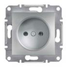 Механизм розетки (2К) 16A алюминий EPH3000161