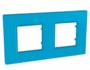 Рамка 2 поста синий универсальная MGU4.704.26
