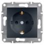 Механизм розетки (2К+З) 16A антрацит EPH2900171