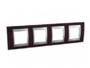 Рамка 4 поста венге/алюминий горизонтальная MGU66.008.0M3