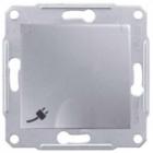 Механизм розетки (2К+З) 16A со шторками и крышкой алюминий SDN3100160