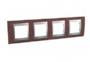 Рамка 4 поста табак/алюминий горизонтальная MGU66.008.0M4