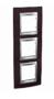 Рамка 3 поста вертикальная венге/алюминий горизонтальная MGU66.006V.0M3