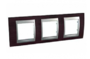 Рамка 3 поста венге/алюминий горизонтальная MGU66.006.0M3