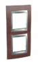 Рамка 2 поста вертикальная табак/алюминий горизонтальная MGU66.004V.0M4